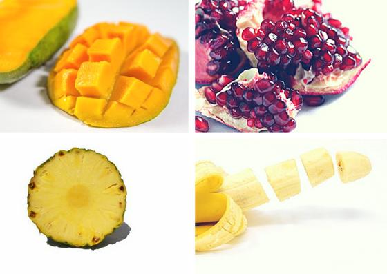Photo fruits pour la recette